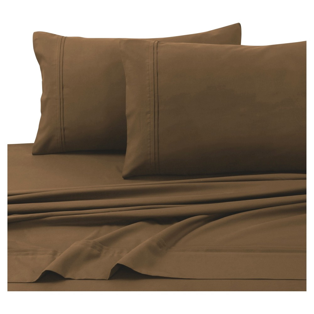 Microfiber Solid Deep Pocket Sheet Set (Full) Chocolate 110 GSM - Tribeca Living from Tribeca Living