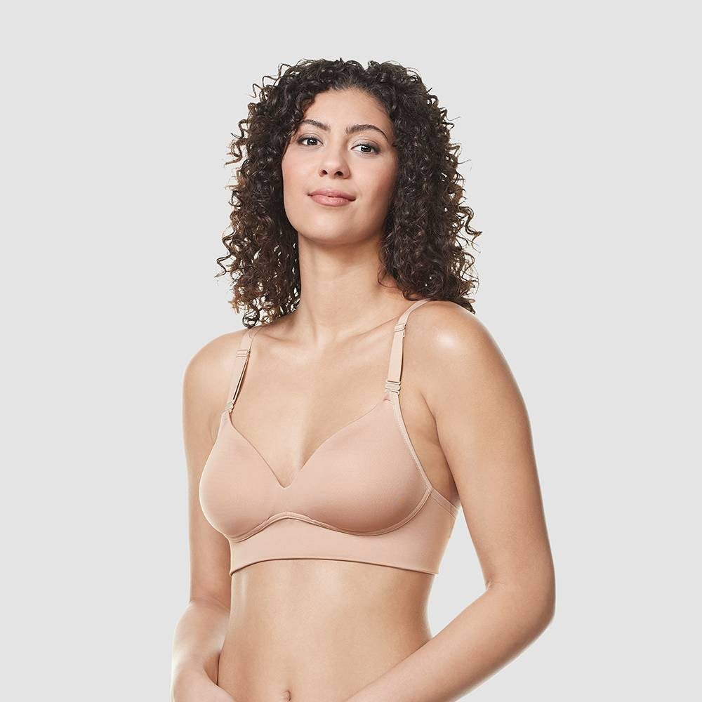 Simply Perfect by Warner's Women's Longline Convertible Wirefree Bra - Toasted Almond 36D, Toasted Brown from Simply Perfect by Warner's