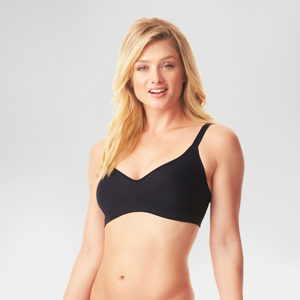 Simply Perfect by Warner's Women's Underarm Smoothing Seamless Wireless Bra Black M from Simply Perfect by Warner's