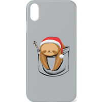 Tobias Fonseca Sloth In A Pocket Xmas Phone Case for iPhone and Android - Samsung Note 8 - Snap Case - Matte from TOBIAS FONSECA