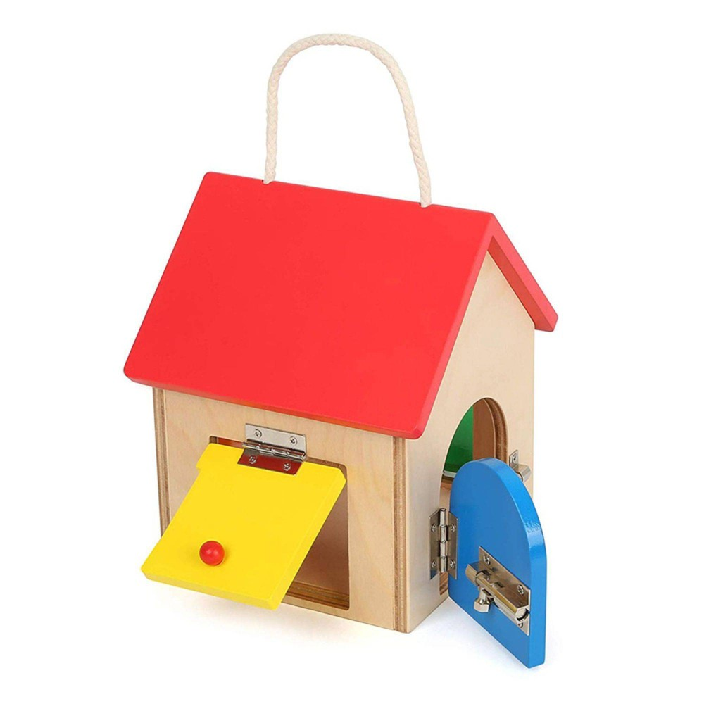 Small Foot Wooden Toys Compact House Of Locks Playset from Small Foot