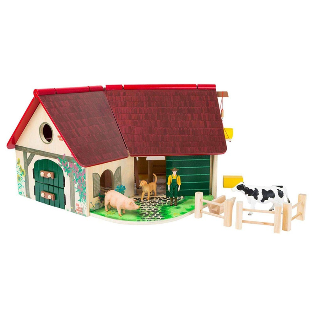 Small Foot Wooden Toys Farmhouse Barn Woodfriends Playworld
