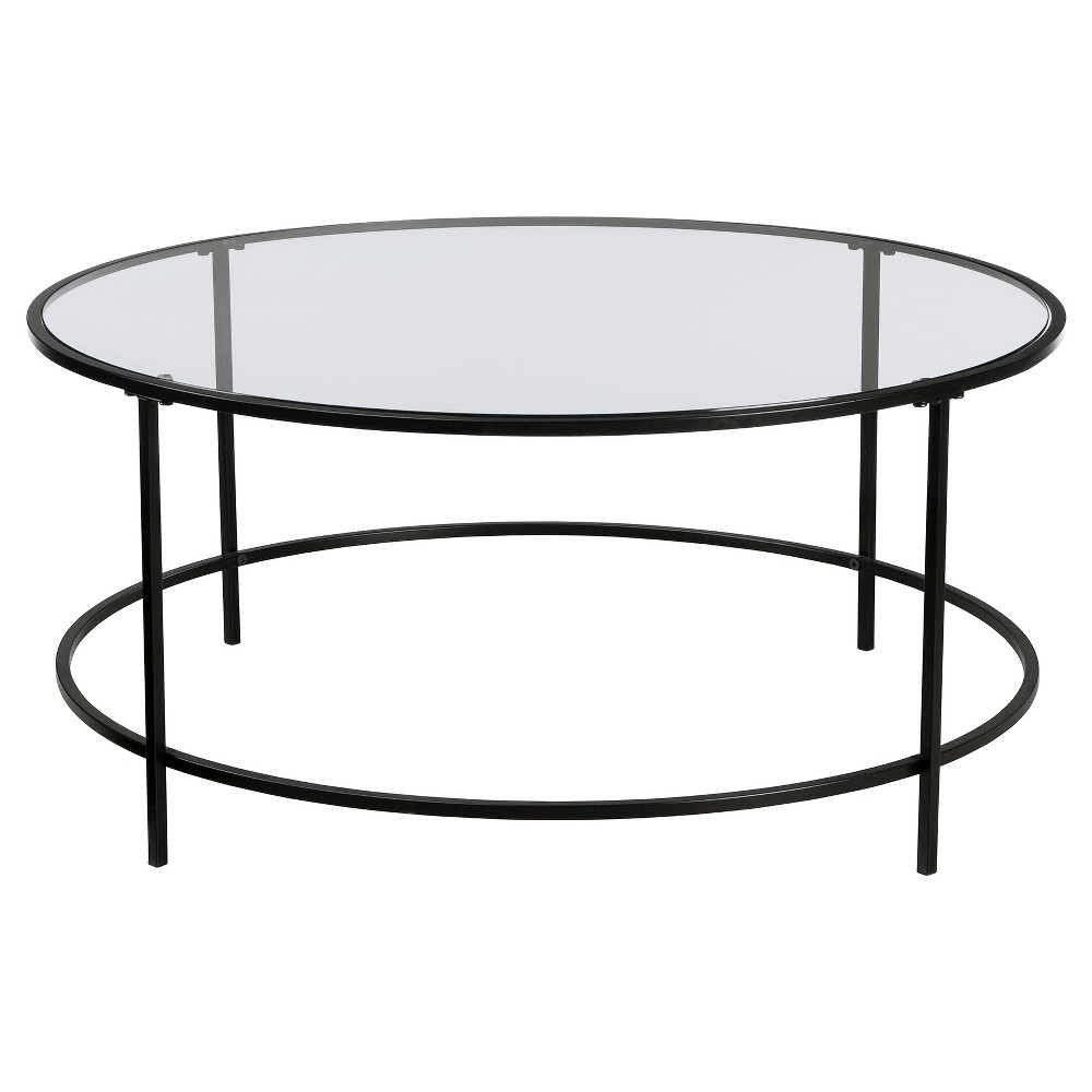Soft Modern Round Table - Black/Clear - Sauder from Sauder