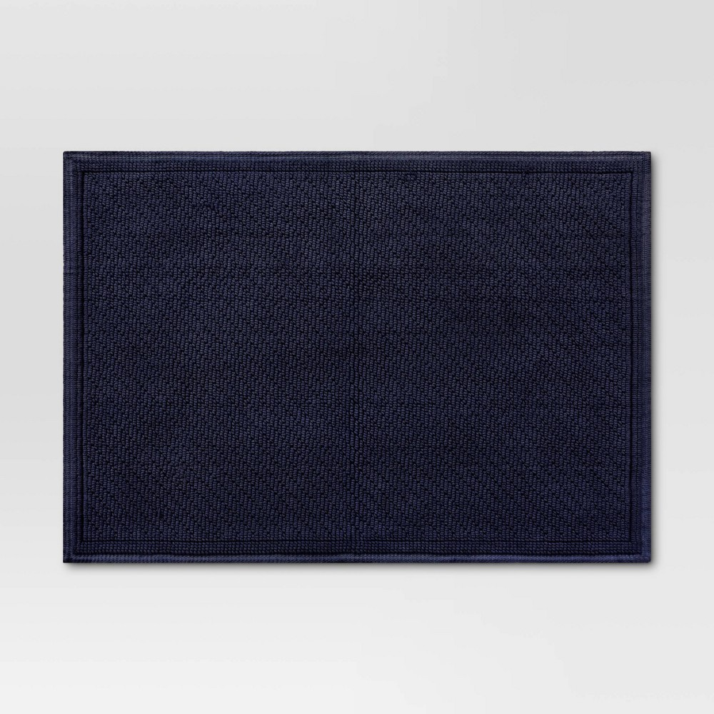 "21""x30"" Performance Solid Bath Mat Navy Blue - Threshold from Threshold"