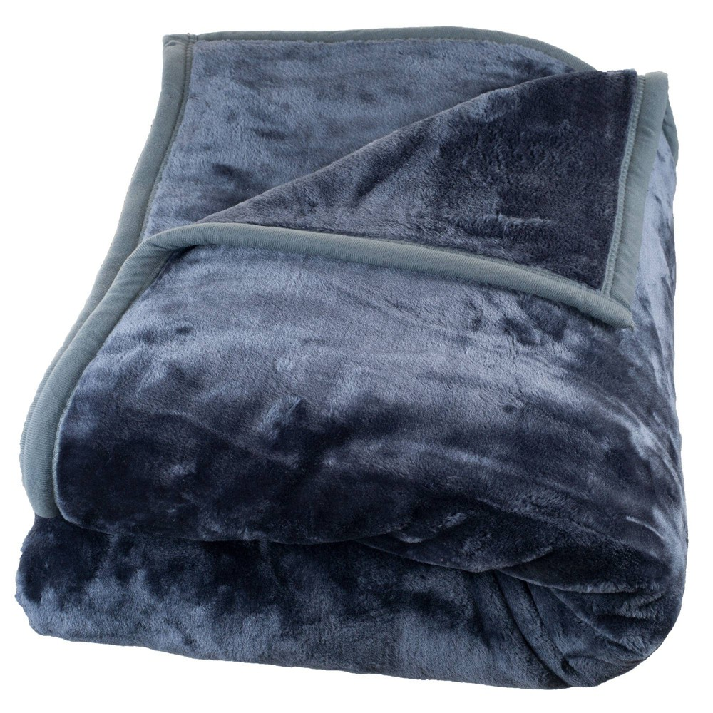Solid Soft Heavy and Thick Plush Mink Throw Blanket Gray - Trademark Global from Trademark Global
