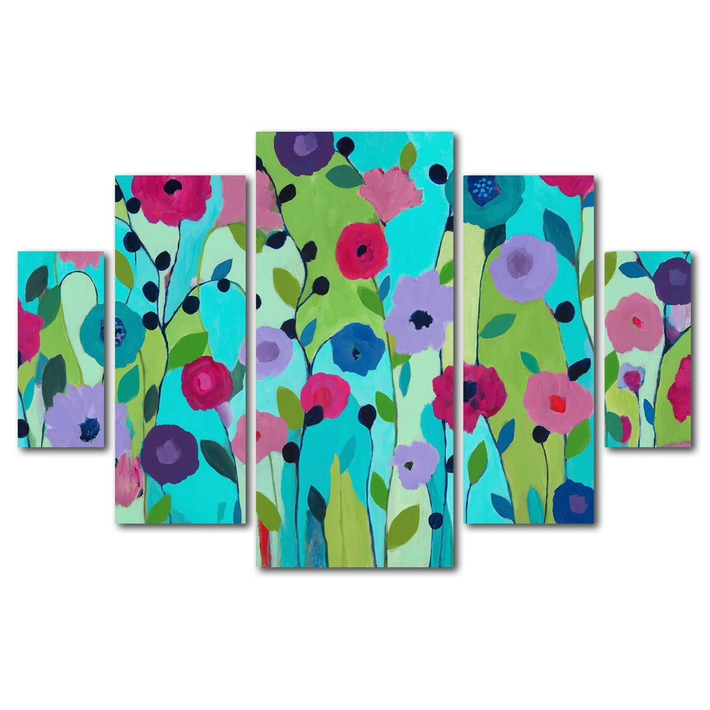 5pc Spring Returns by Carrie Schmitt - Trademark Fine Art from Trademark Global