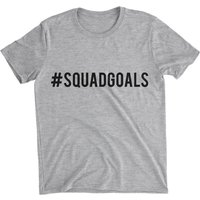 Squad Goals Women's Grey T-Shirt - XXL - Grey from Big And Beautiful