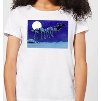 Star Wars AT-AT Darth Vader Sleigh Women's Christmas T-Shirt - White - XL - White from Star Wars