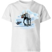 Star Wars AT-AT Reindeer Kids' Christmas T-Shirt - White - 7-8 Years - White from Star Wars