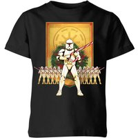 Star Wars Candy Cane Stormtroopers Kids' Christmas T-Shirt - Black - 5-6 Years - Black from Star Wars