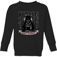Star Wars Darth Vader Humbug Kids' Christmas Sweatshirt - Black - 7-8 Years - Black from Star Wars