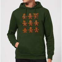 Star Wars Gingerbread Characters Christmas Hoodie - Forest Green - M - Forest Green from Star Wars