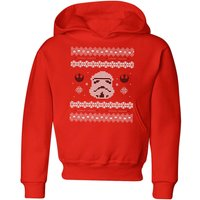 Star Wars Stormtrooper Knit Kids' Christmas Hoodie - Red - 9-10 Years - Red from Star Wars
