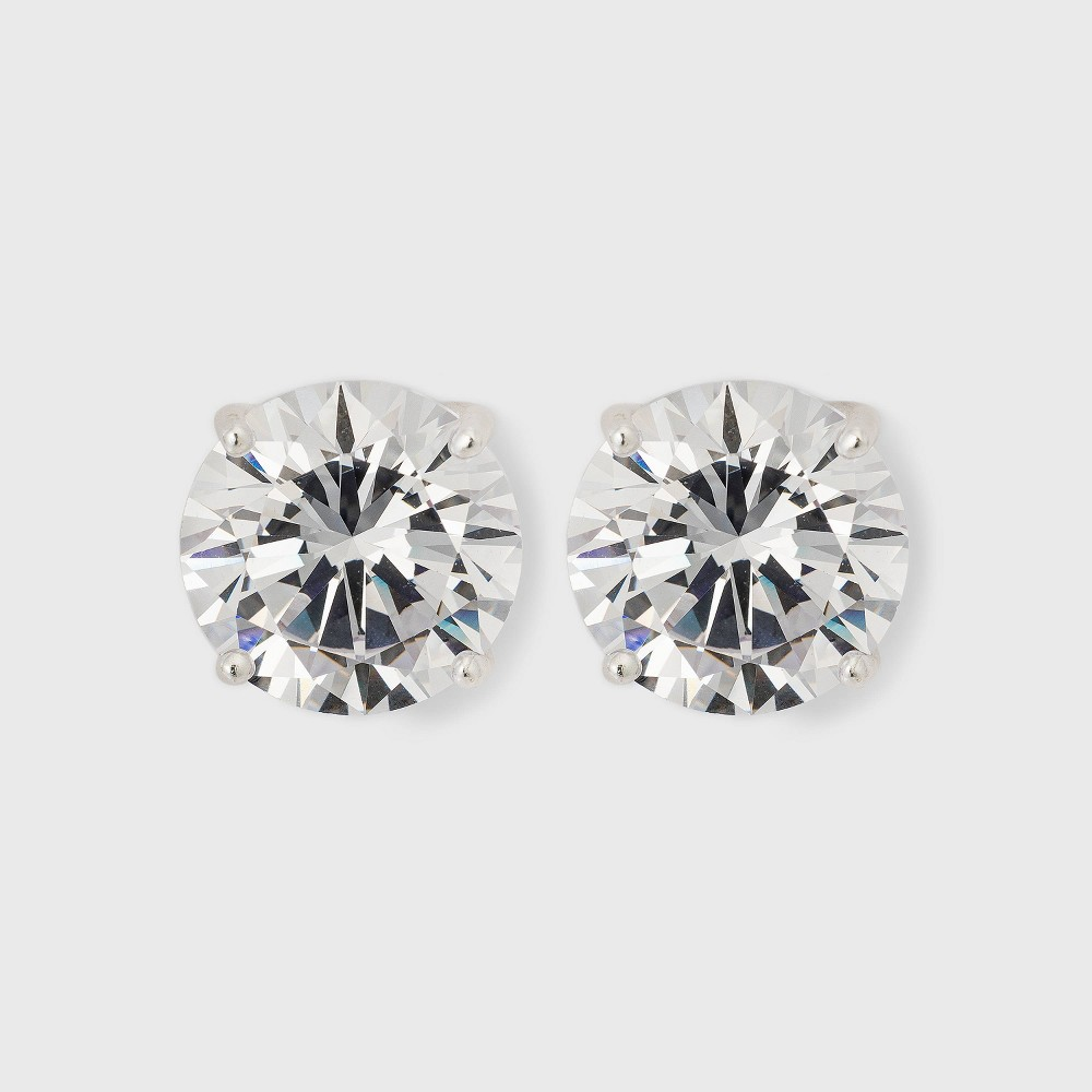 Sterling Silver Cubic Zirconia Round Stud Earring from Distributed by Target