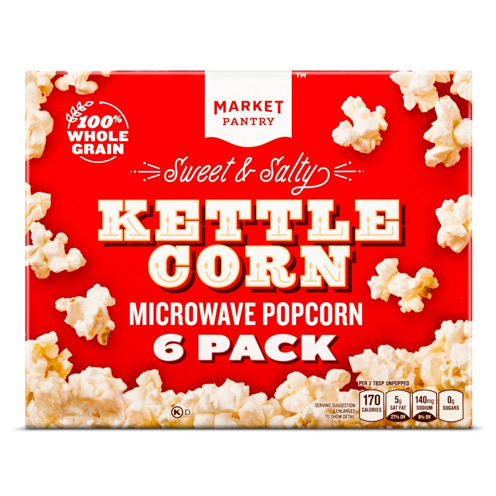 Sweet & Salty Kettle Corn 6ct - Market Pantry from Market Pantry