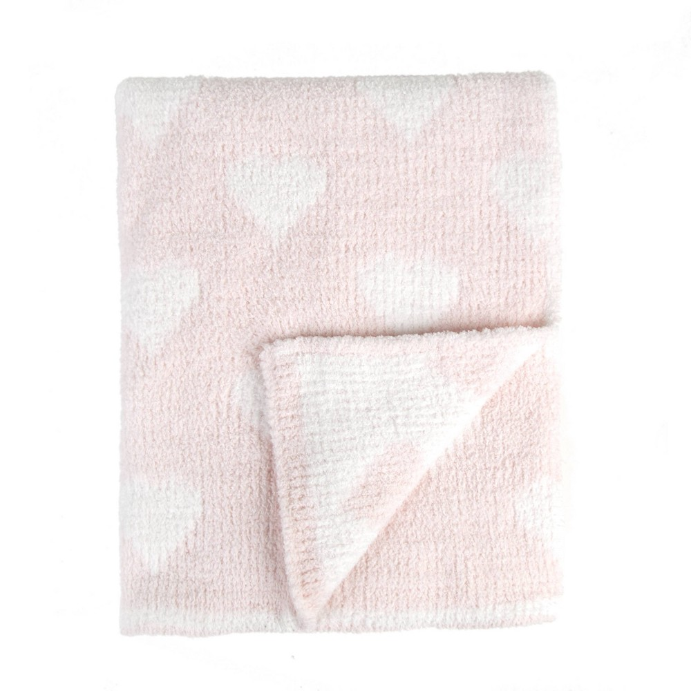 Tadpoles Ultra-Soft Chenille Knit Baby Blanket - Blush/White from Tadpoles