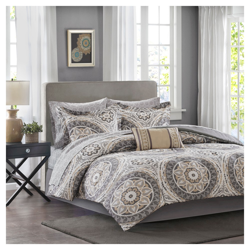 Taupe Nepal Medallion Complete Multiple Piece Comforter Set (Queen) - 9 Piece from No Brand