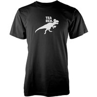 Tea Rex Black T-Shirt - XL - Black from The Dinosaur Collection
