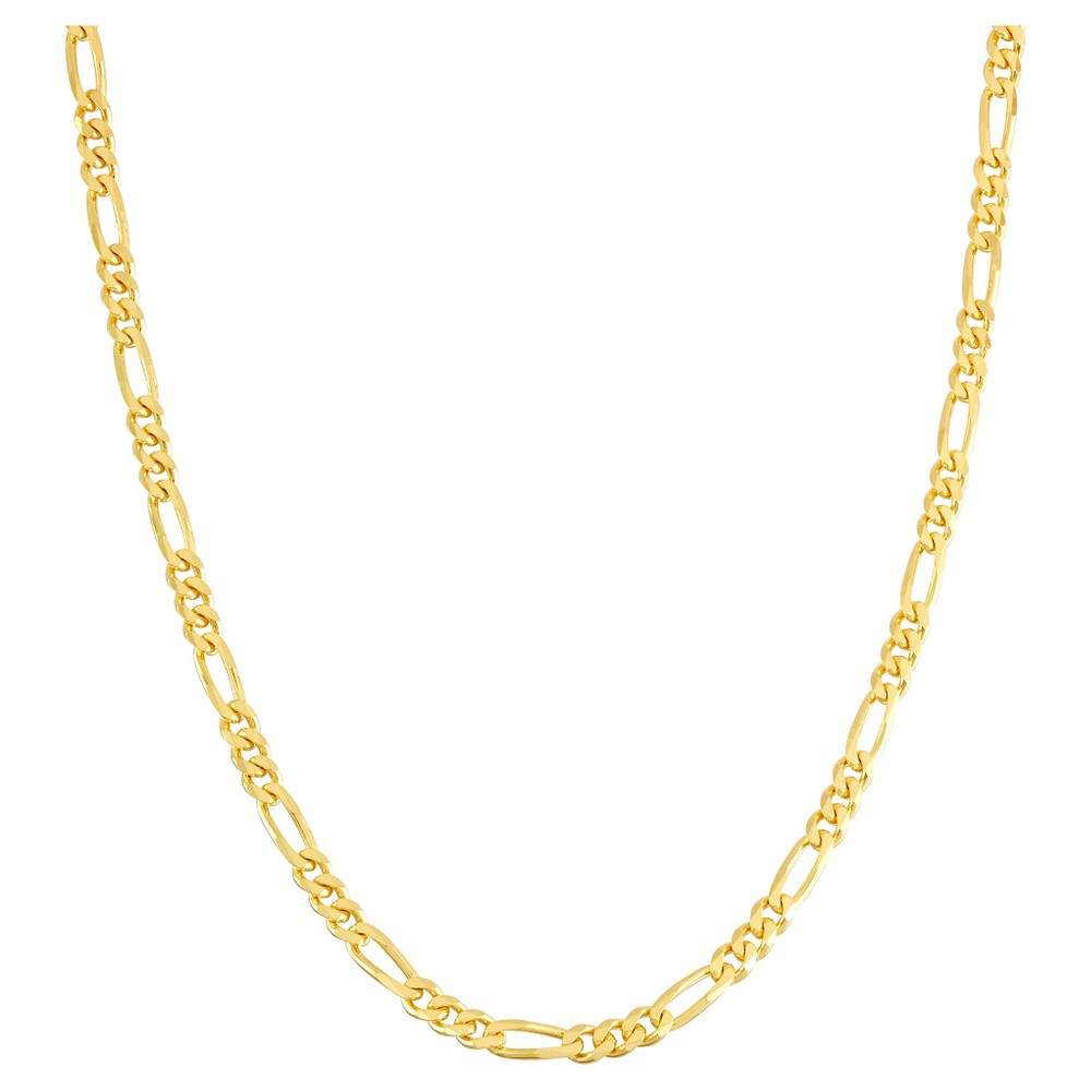 Tiara Gold Over Silver 20 Figaro Chain Necklace, Size: 20 inch