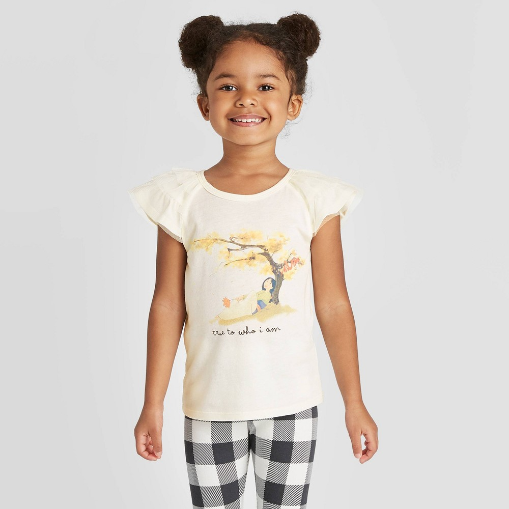 Toddler Girls' Disney Princess Mulan Graphic T-Shirt - Off White 4T from Disney Princess