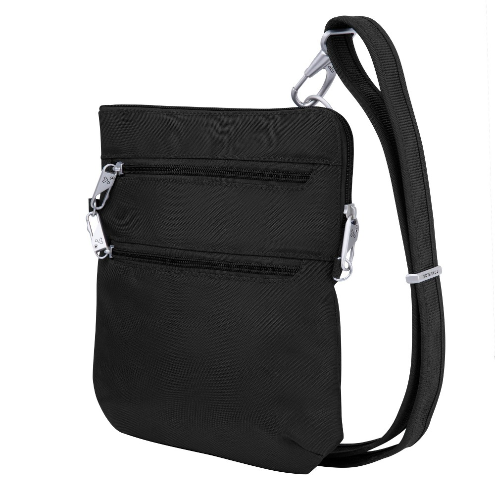 Travelon RFID Anti-Theft Slim Double Zip Crossbody - Black from Travelon