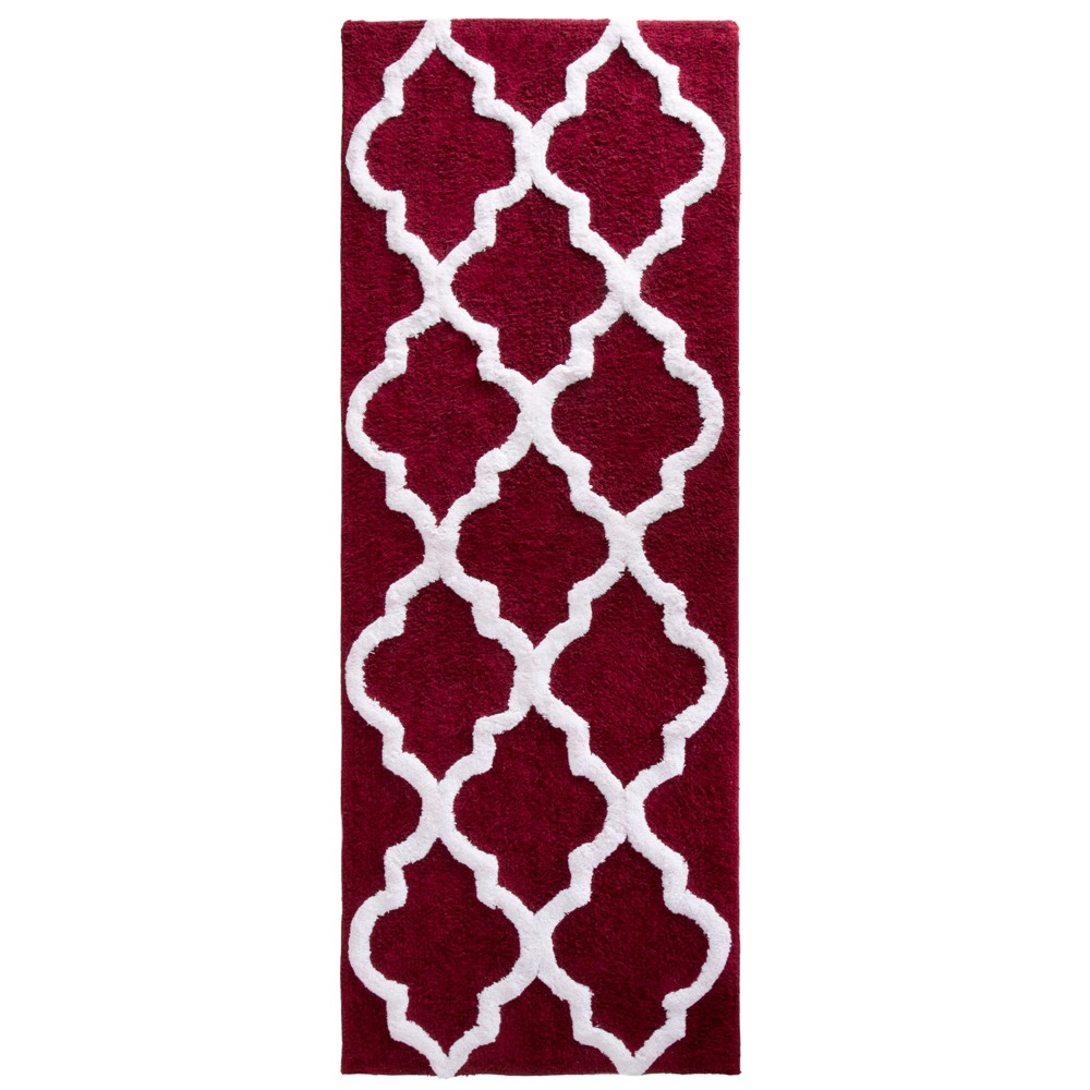Trellis Bath Mat Burgundy - Yorkshire Home from Yorkshire Home
