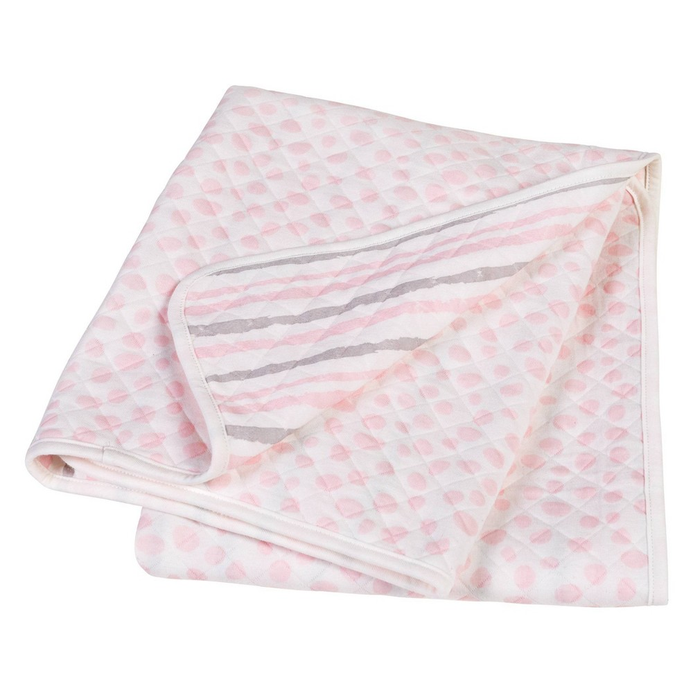 Trend Lab Baby Blanket Scuba Knit - Pink/Gray from Trend Lab