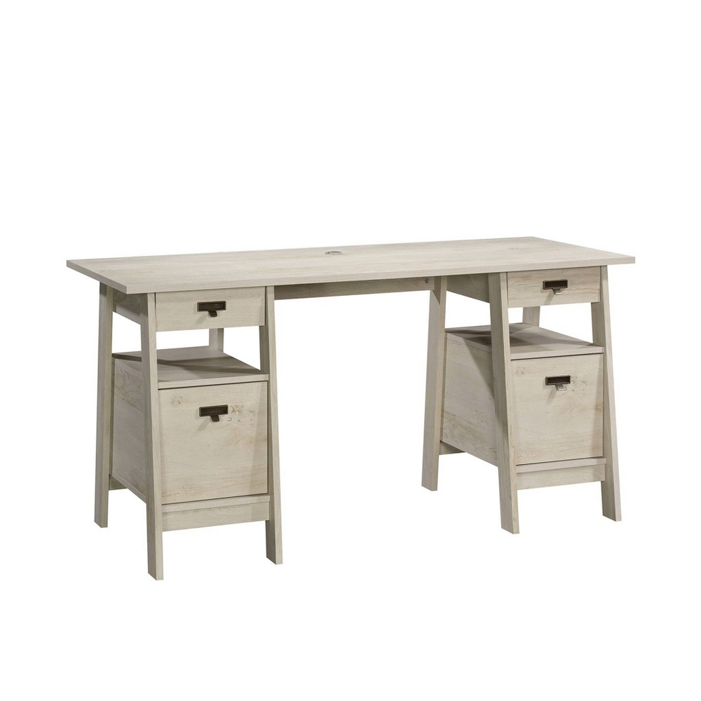Trestle Executive Desk Chalked Chestnut - Sauder from Sauder