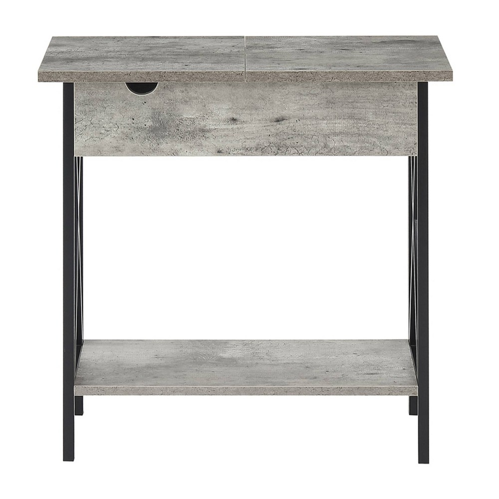 Tucson Flip Top End Table with Charging Station Faux Birch - Breighton Home from Breighton Home