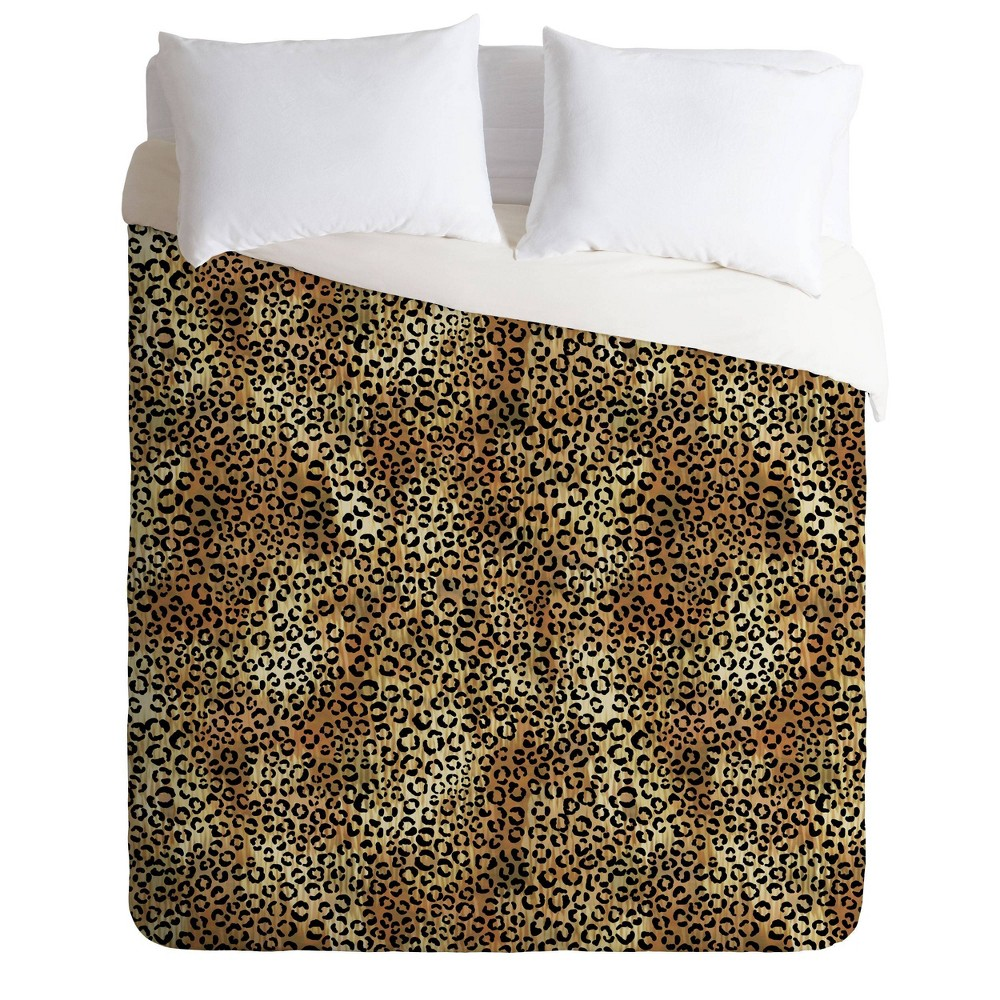 Twin/Twin XL Schatzi Brown Leopard Comforter Set Tan - Deny Designs from Deny Designs