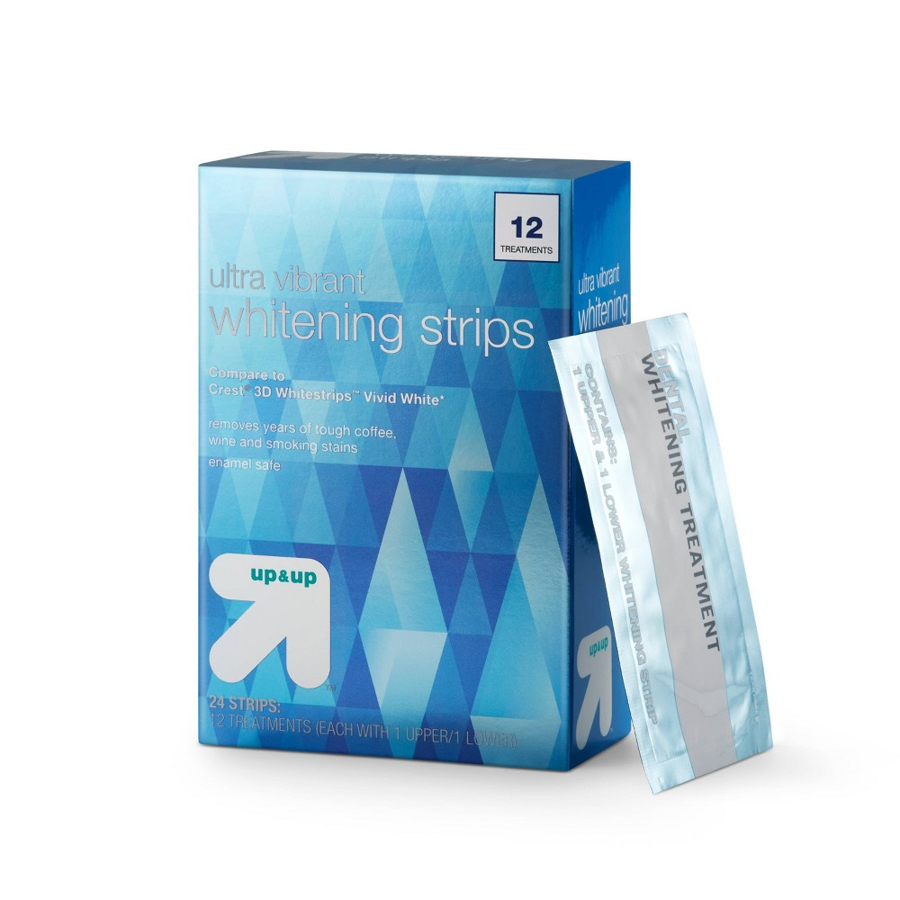 Ultra Vibrant Whitening Strips -12 Day Treatment - up & up from up & up
