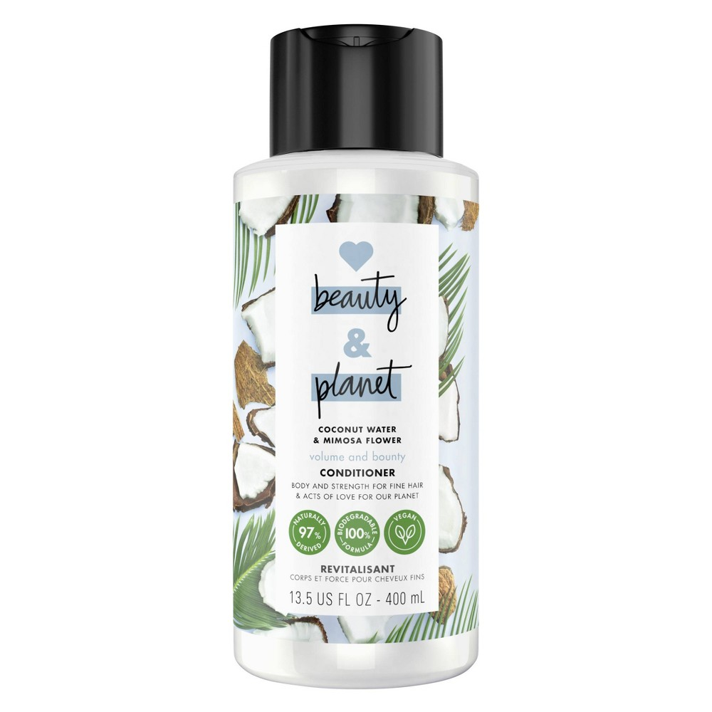 Love Beauty & Planet Coconut Water & Mimosa Flower Volume & Bounty Conditioner - 13.5 fl oz