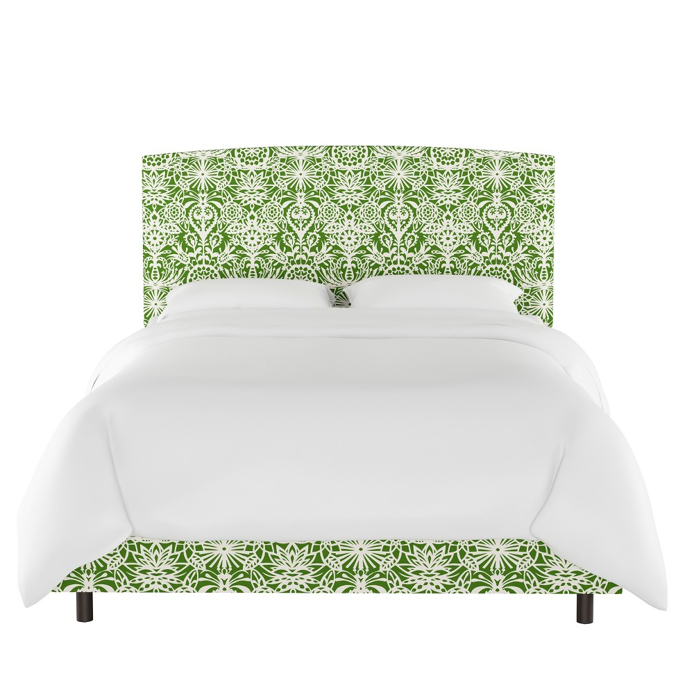 Upholstered Bed Queen Green & White Floral - Opalhouse