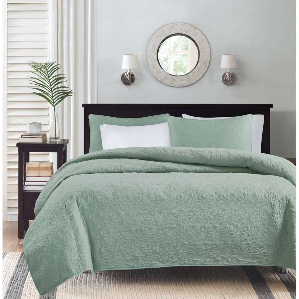 Seafoam Vancouver Coverlet Set King 3pc from No Brand