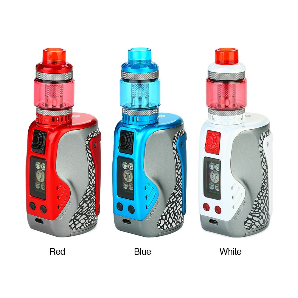 WISMEC Reuleaux Tinker 300W TC Kit with Column Tank(Blue, 6.5ml with Child Lock)