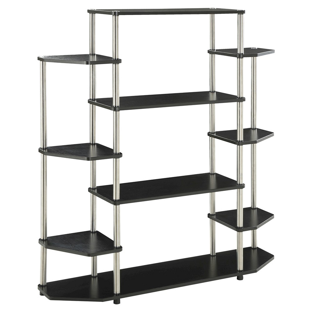 "52.5"" Wall Unit Bookshelf Black - Breighton Home from Breighton Home"