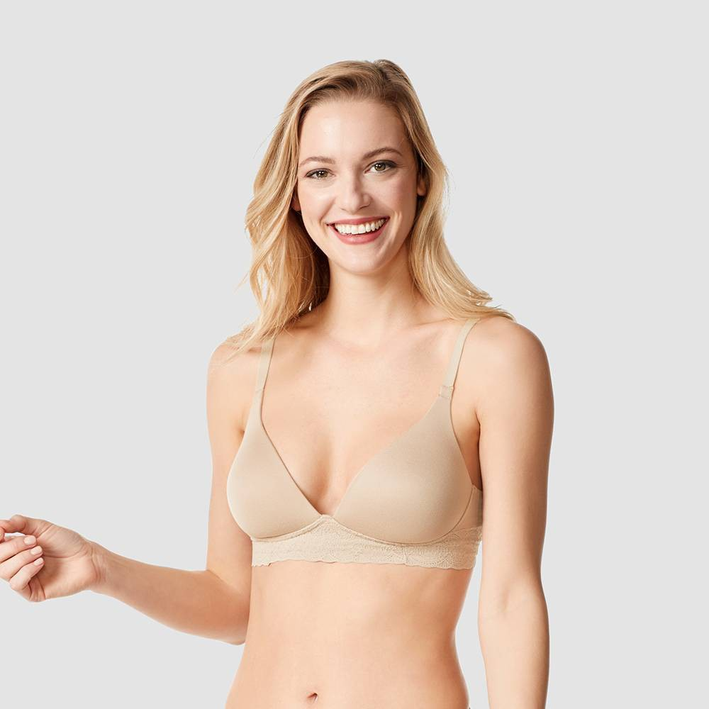 Warner's Simply Perfect Women's Supersoft Lace Wirefree Bra - Toasted Almond 36B, Toasted Brown from Simply Perfect by Warner's