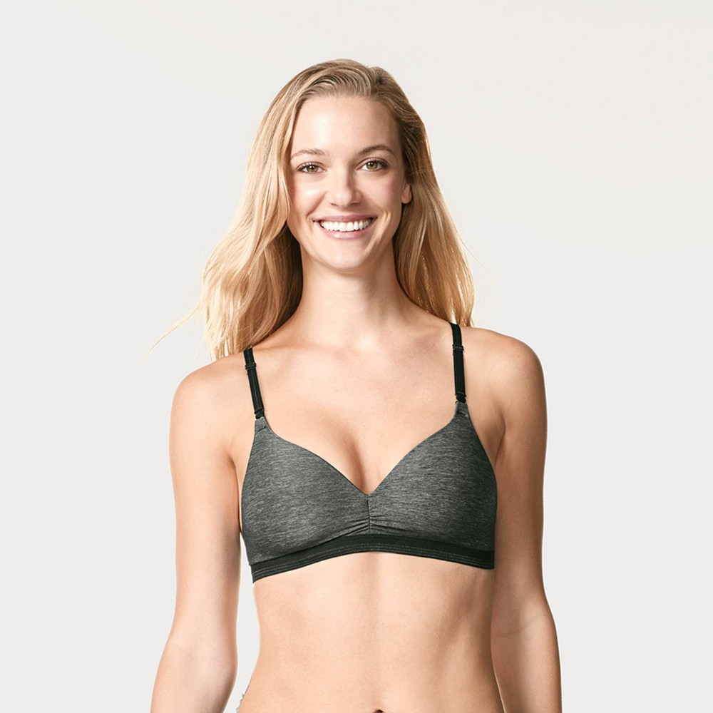 Women's Simply Perfect by Warner's Cooling Wire-Free Bra RM3281T - 38C Dark Gray from Simply Perfect by Warner's