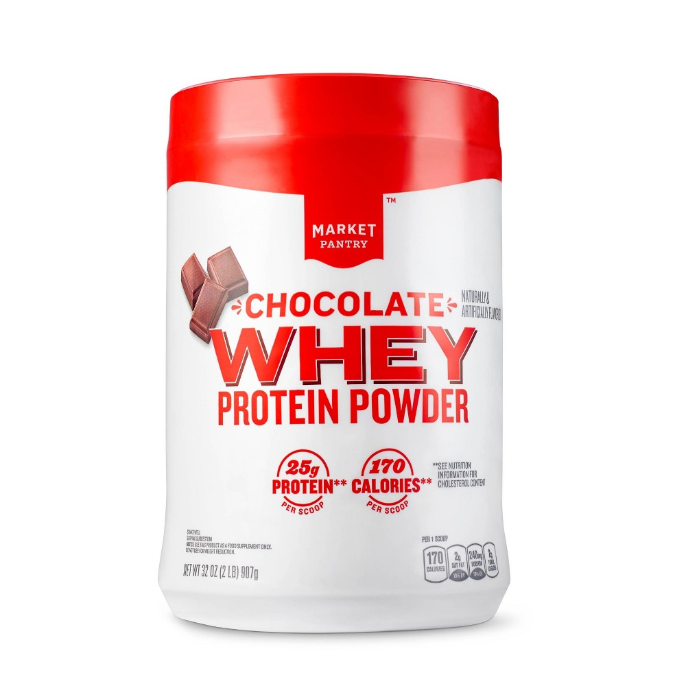 Whey Protein Powder - Chocolate - 32oz - Market Pantry from Market Pantry