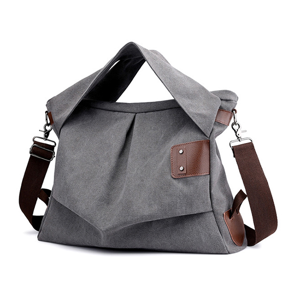 Women Canvas Casual Large Capacity Tote Handbag Crossbody Bag