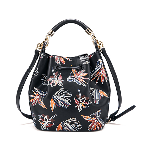 Women Casual Flower Bucket Bag String Crossbody Bag