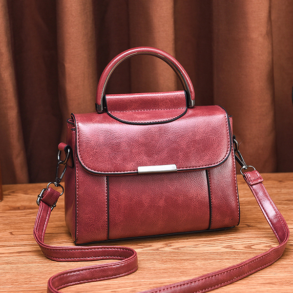Women Faux Leather Vintage Handbag Shoulder Bag Crossbody Bag