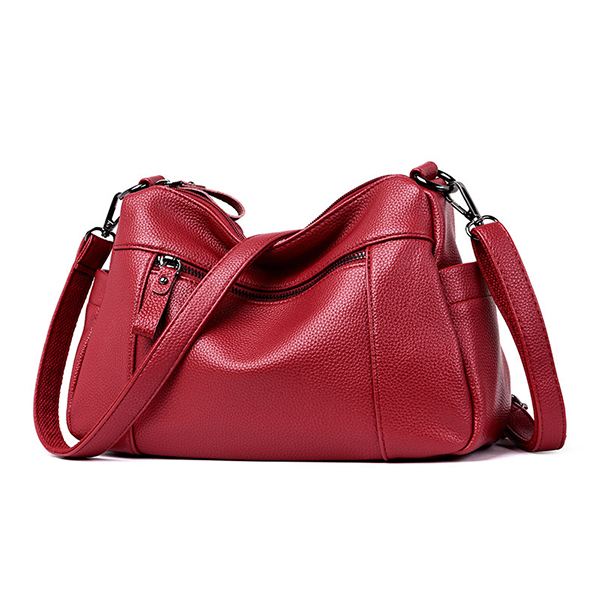 Women Soft PU Leather Crossbody Bag Leisure Shoulder Bag