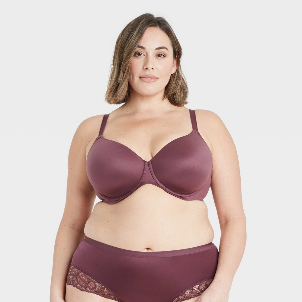 cb711e036ad97 Women s Plus Size Superstar Lightly Lined T-shirt Bra - Auden - Burgundy  Mist 42DDD