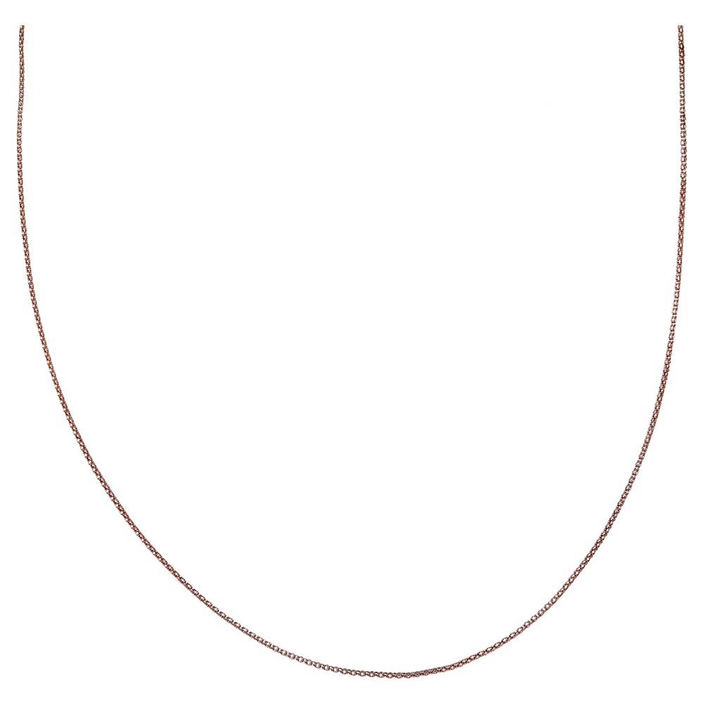 "Women's Rose Two-Tone Popcorn Chain in Sterling Silver - Rose/Silver (18"") from Distributed by Target"