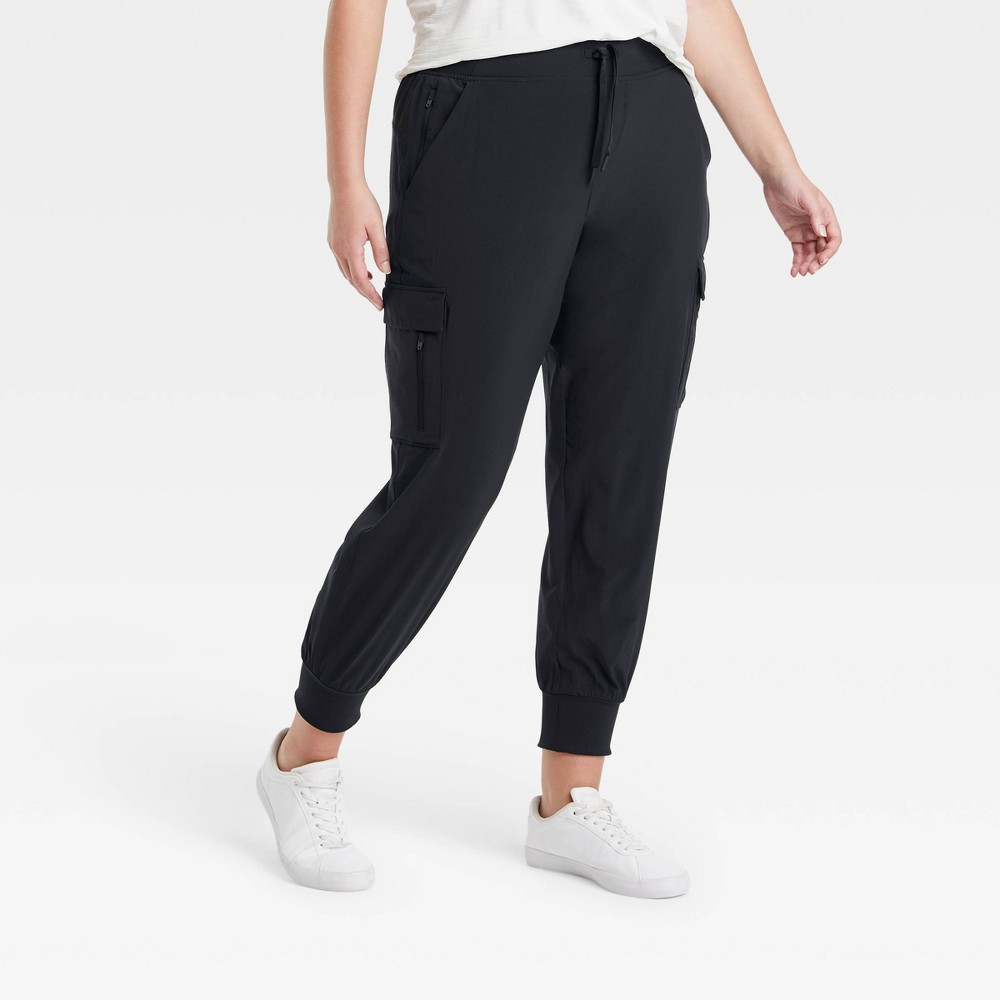 Women's Stretch Woven Cargo Pants - All in Motion Black XXL from All in Motion