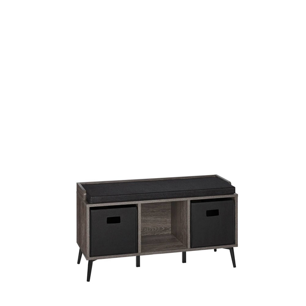 Woodbury Storage Bench with Cubbies and 2 Bins Woodgrain - RiverRidge Home from RiverRidge Home
