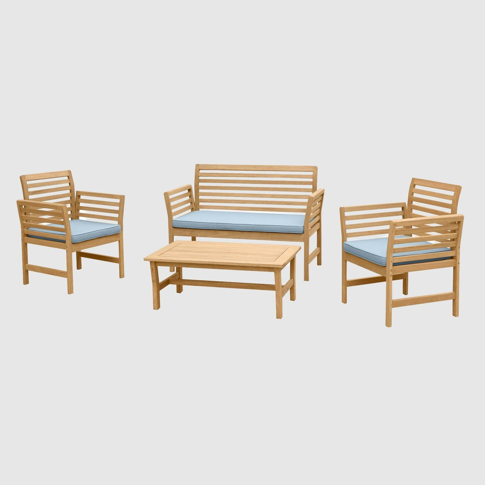 Yuri 4pc Seating Set - Blue - RST Brands from RST Brands
