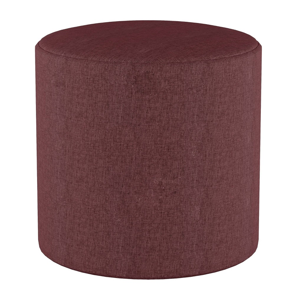 Round Ottoman in Zuma Oxblood Red - Project 62 from Project 62
