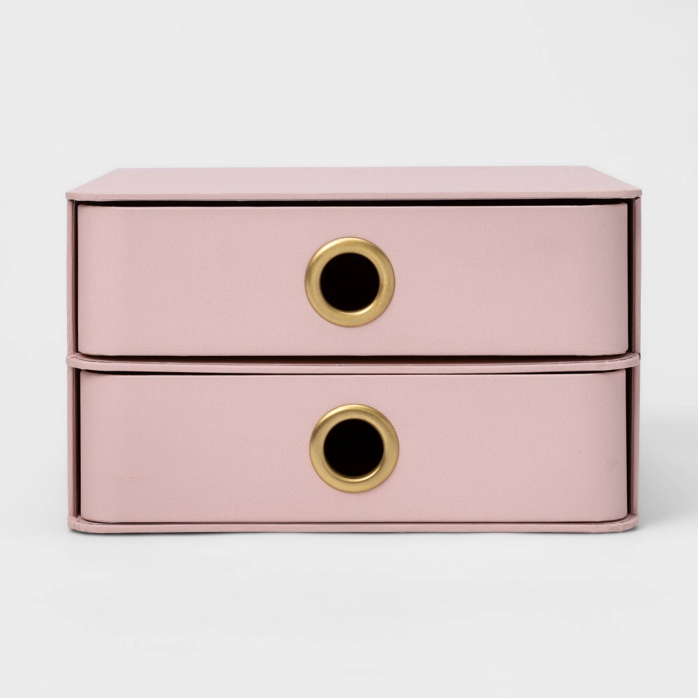 Set of 2 Paper Drawers Blush Pink - Project 62 from Project 62